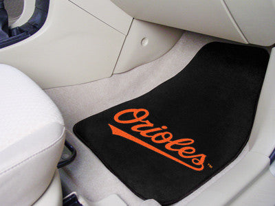 "MLB Officially licensed products Baltimore Orioles 2-pc Carpet Car Mat Set 17""x27"" Show your fandom even while driving with"