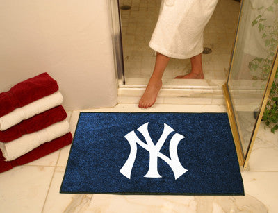 "MLB Officially licensed products New York Yankees All Star Mat 33.75""x42.5"" Join the All-Star team and decorate your home or"