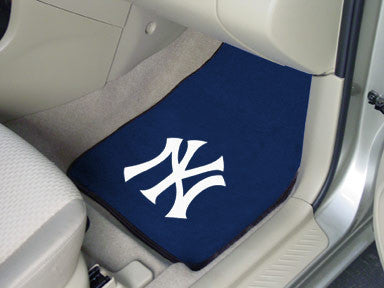 "MLB Officially licensed products New York Yankees 2-pc Carpet Car Mat Set 17""x27"" Show your fandom even while driving with C"