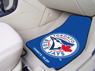 "MLB Officially licensed products Toronto Blue Jays 2-pc Carpet Car Mat Set 17""x27"" Show your fandom even while driving with"