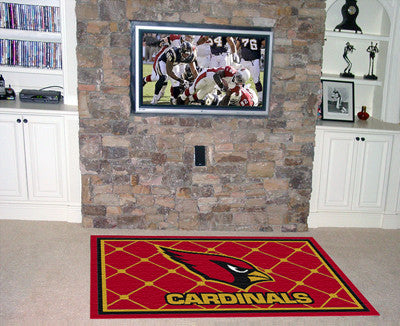 NFL Officially licensed products Arizona Cardinals 5'x8' Rug Show off your team pride in a big way! 5'x8' ultra plush area r