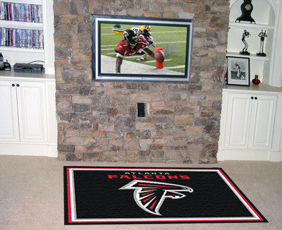 NFL Officially licensed products Atlanta Falcons 5'x8' Rug Show off your team pride in a big way! 5'x8' ultra plush area rug