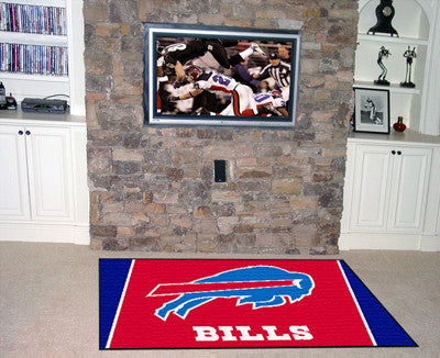 NFL Officially licensed products Buffalo Bills 4'x6' Rug Show off your team pride in a big way! 4'x6' ultra plush area rugs