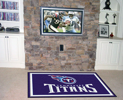 NFL Officially licensed products Tennessee Titans 5'x8' Rug Show off your team pride in a big way! 5'x8' ultra plush area ru