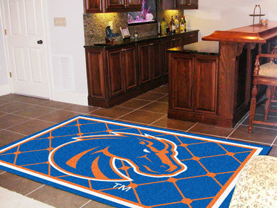 "NCAA Officially licensed Boise State University 5x8 Rug 59.5""x88"" Show off your team pride in a big way! 5'x8' ultra plush a"