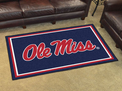 "NCAA Officially licensed University of Mississippi (Ole Miss) 4x6 Rug 44""x71"" Show off your team pride in a big way! 4'x6' u"
