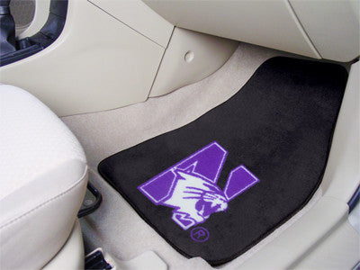 "NCAA Officially licensed Northwestern University 2-pc Carpet Car Mat Set 17""x27"" Show your fandom even while driving with Ca"