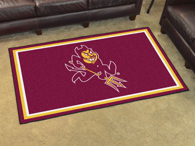 "NCAA Officially licensed Arizona State University 4x6 Rug 44""x71"" Show off your team pride in a big way! 4'x6' ultra plush a"