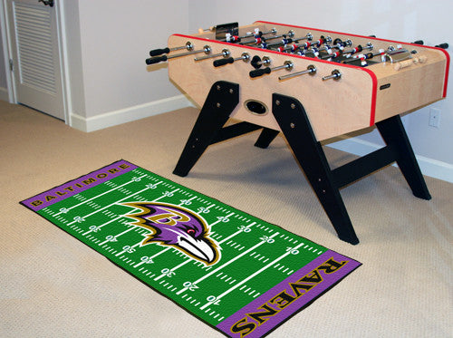"NFL Officially licensed products Baltimore Ravens Runner 30""x72"" Are you a die-hard football fan that likes to show off your"