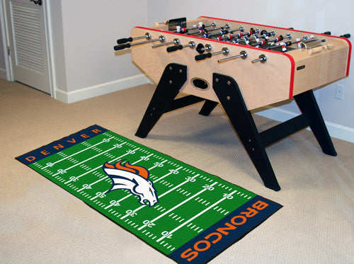 "NFL Officially licensed products Denver Broncos Runner 30""x72"" Are you a die-hard football fan that likes to show off your t"