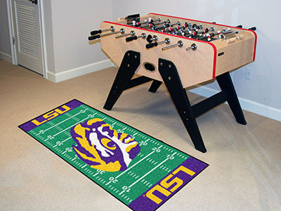 "NCAA Officially licensed Louisiana State University Football Field Runner 30""x72"" Are you a die-hard football fan that likes"
