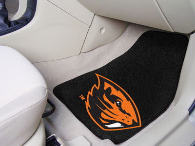 "NCAA Officially licensed Oregon State University 2-pc Carpet Car Mat Set 17""x27"" Show your fandom even while driving with Ca"