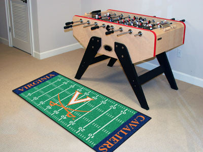 "NCAA Officially licensed University of Virginia Football Field Runner 30""x72"" Are you a die-hard football fan that likes to"