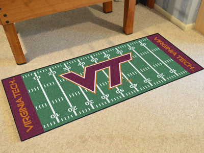 "NCAA Officially licensed Virginia Tech Football Field Runner 30""x72"" Are you a die-hard football fan that likes to show off"