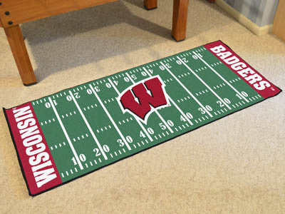 "NCAA Officially licensed University of Wisconsin Football Field Runner 30""x72"" Are you a die-hard football fan that likes to"