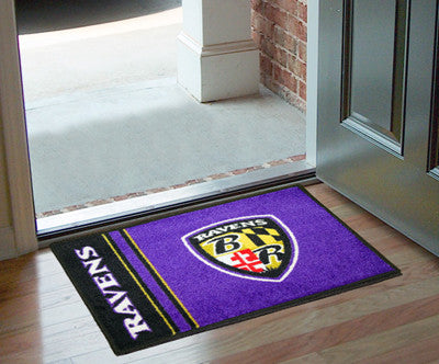 "NFL Officially licensed products Baltimore Ravens Uniform Starter Rug 19""x30"" Start showing off your team pride at home and"