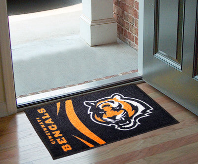 "NFL Officially licensed products Cincinnati Bengals Uniform Starter Rug 19""x30"" Start showing off your team pride at home an"