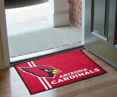 "NFL Officially licensed products Arizona Cardinals Uniform Starter Rug 19""x30"" Start showing off your team pride at home and"
