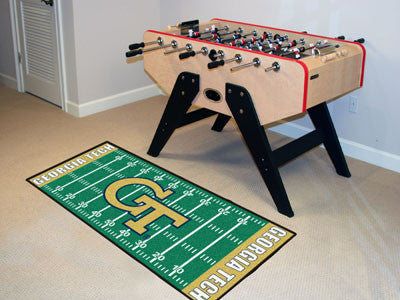 "NCAA Officially licensed Georgia Tech Football Field Runner 30""x72"" Are you a die-hard football fan that likes to show off y"