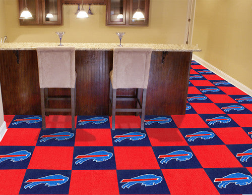 "NFL Officially licensed products Buffalo Bills 18""x18"" Carpet Tiles Want to show off your team pride in a big way? Carpet Ti"