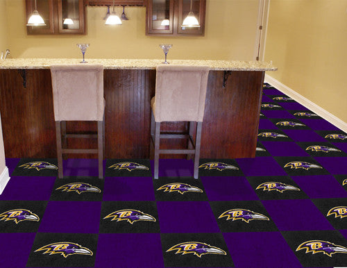 "NFL Officially licensed products Baltimore Ravens 18""x18"" Carpet Tiles Want to show off your team pride in a big way? Carpet"