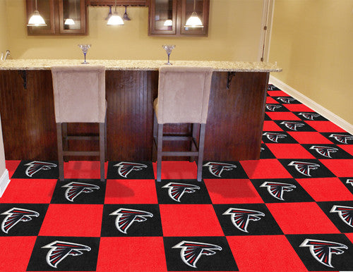 "NFL Officially licensed products Atlanta Falcons 18""x18"" Carpet Tiles Want to show off your team pride in a big way? Carpet"