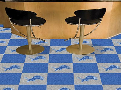 "NFL Officially licensed products Detroit Lions 18""x18"" Carpet Tiles Want to show off your team pride in a big way? Carpet Ti"