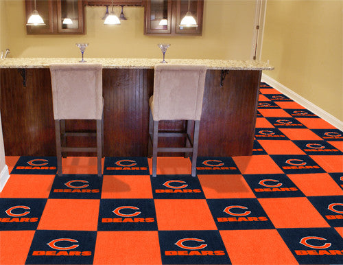 "NFL Officially licensed products Chicago Bears 18""x18"" Carpet Tiles Want to show off your team pride in a big way? Carpet Ti"
