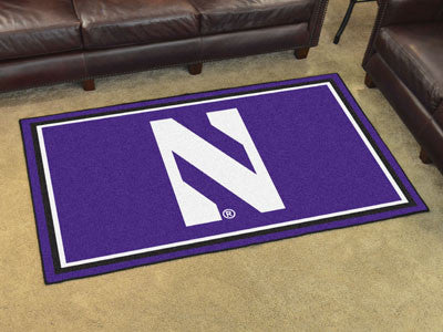 "NCAA Officially licensed Northwestern University 4x6 Rug 44""x71"" Show off your team pride in a big way! 4'x6' ultra plush ar"