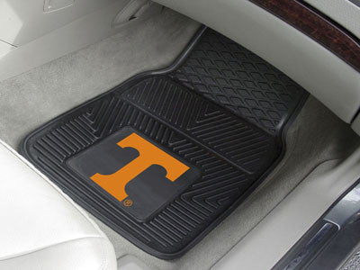 "NCAA Officially licensed University of Tennessee 2-pc Vinyl Car Mat Set 17""x27"" Add style to your ride with heavy duty Vinyl"