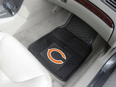 "NFL Officially licensed products Chicago Bears 2-pc Vinyl Car Mats 17""x27"" Add style to your ride with heavy duty Vinyl Car"
