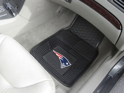 "NFL Officially licensed products New England Patriots 2-pc Vinyl Car Mats 17""x27"" Add style to your ride with heavy duty Vin"