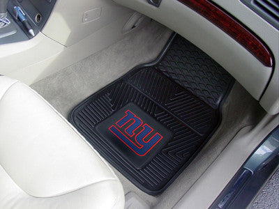 "NFL Officially licensed products New York Giants 2-pc Vinyl Car Mats 17""x27"" Add style to your ride with heavy duty Vinyl Ca"