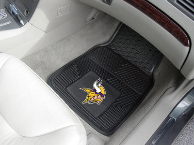 "NFL Officially licensed products Minnesota Vikings 2-pc Vinyl Car Mats 17""x27"" Add style to your ride with heavy duty Vinyl"