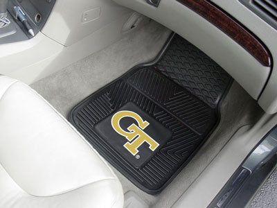 "NCAA Officially licensed Georgia Tech 2-pc Vinyl Car Mat Set 17""x27"" Add style to your ride with heavy duty Vinyl Car Mats f"