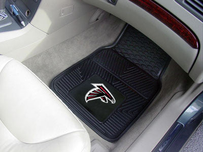 "NFL Officially licensed products Atlanta Falcons 2-pc Vinyl Car Mats 17""x27"" Add style to your ride with heavy duty Vinyl Ca"