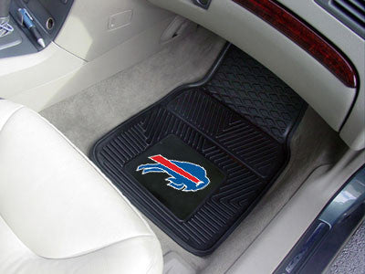 "NFL Officially licensed products Buffalo Bills 2-pc Vinyl Car Mats 17""x27"" Add style to your ride with heavy duty Vinyl Car"