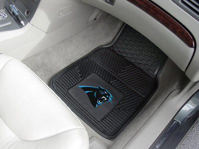 "NFL Officially licensed products Carolina Panthers 2-pc Vinyl Car Mats 17""x27"" Add style to your ride with heavy duty Vinyl"