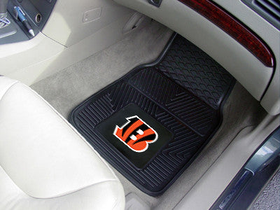 "NFL Officially licensed products Cincinnati Bengals 2-pc Vinyl Car Mats 17""x27"" Add style to your ride with heavy duty Vinyl"