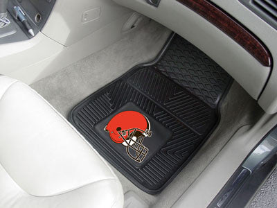 "NFL Officially licensed products Cleveland Browns 2-pc Vinyl Car Mats 17""x27"" Add style to your ride with heavy duty Vinyl C"