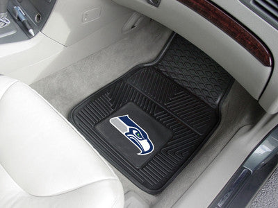 "NFL Officially licensed products Seattle Seahawks 2-pc Vinyl Car Mats 17""x27"" Add style to your ride with heavy duty Vinyl C"