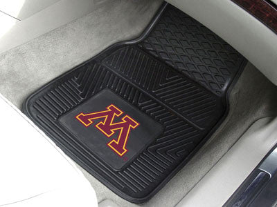 "NCAA Officially licensed University of Minnesota 2-pc Vinyl Car Mat Set 17""x27"" Add style to your ride with heavy duty Vinyl"