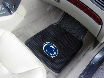 "NCAA Officially licensed Penn State 2-pc Vinyl Car Mat Set 17""x27"" Add style to your ride with heavy duty Vinyl Car Mats fro"