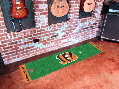 "NFL Officially licensed products Cincinnati Bengals Putting Green Runner 18""x72""  Become a pro and perfect your short game w"