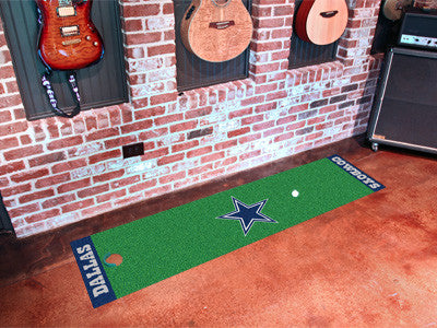 "NFL Officially licensed products Dallas Cowboys Putting Green Runner 18""x72""  Become a pro and perfect your short game with"