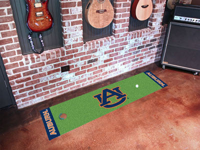 "NCAA Officially licensed Auburn University Putting Green Mat 18""x72"" Become a pro and perfect your short game with Golf Putt"
