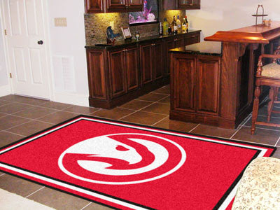 NBA Officially licensed products Atlanta Hawks 5'x8' Rug Show off your team pride in a big way! 5'x8' ultra plush area rugs