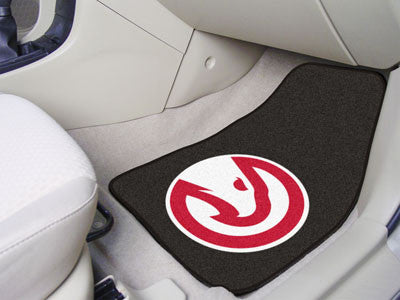 "NBA Officially licensed products Atlanta Hawks 2-pc Carpeted Car Mats 17""x27"" Show your fandom even while driving with Carpe"