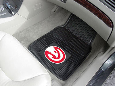 "NBA Officially licensed products Atlanta Hawks 2-pc Vinyl Car Mats 17""x27"" Add style to your ride with heavy duty Vinyl Car"