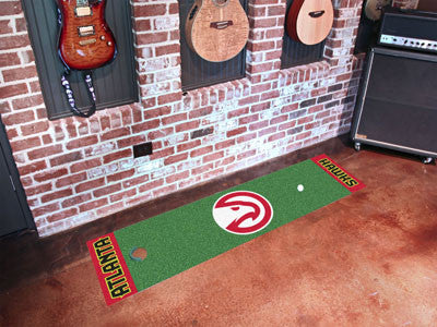 "NBA Officially licensed products Atlanta Hawks Putting Green Runner 18""x72""  Become a pro and perfect your short game with G"